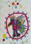 PAJARO INDIO, 2011 30 x 20 cm Acryl und Tusche auf handgeschöpftem Papier