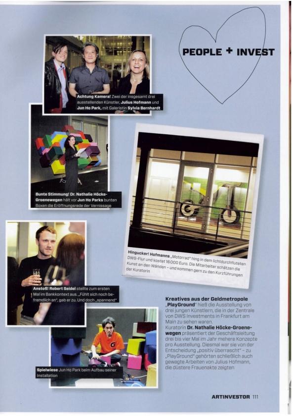 ARTINVESTOR - Kunst und was sie wert ist - Ausgabe 4/2012