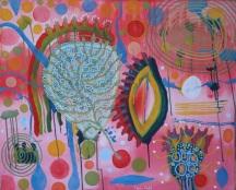 AMANECER, 2011, 120 x 160 cm , Acryl auf Leinwand Amancer ist spanisch und heißt soviel wie Tagesanbruch oder Morgengrauen